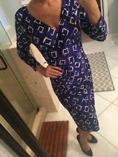 New Ralph Lauren evening party Career dress jersey stretch V neck Blue Purple 10