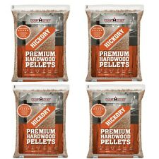 Wood Smoker Pellets 4 PACK 80 lbs BBQ Smoking Grilling Pellet Fuel 100% Hickory