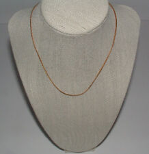 """Over Copper 15 """" Vintage Serpentine Necklace Gold Plated"""