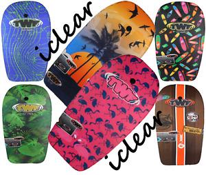 "TWF Bodyboard - Adults & Kids Boogie/Surf Board with Leash 37"" EPS Brand New"