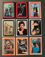 Vintage 1977 Topps Star Wars Cards Series 2 3 4 5 Sticker Lot x  Red Grn Yel Ora