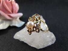Ring Modern Gelbgold 585er Echte Perle 4,7 Gramm Größe 57 (18,1 mm Ø)