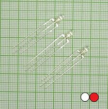10X DUO Bi-Color Led (3mm, rot - Weiß, 3-polig, common anode)  - E