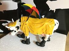 "Cow Parade Figurine "" Mooing in th Rain "" ( # 7704 - Retired )"
