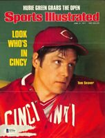 Tom Seaver Signed Cincinnati Reds Sports Illustrated Magazine Cover BAS