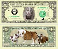 Godzilla Million Dollar Bill Fake Play Funny Money Novelty Note with FREE SLEEVE
