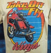 NOS vintage 80s KAWASAKI NINJA 1000R MOTORCYCLE T-Shirt M/L motocross biker thin