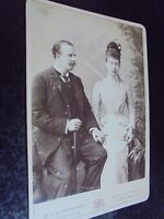Cabinet photograph Duke and Duchess of Fife by Downey c1890s