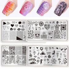 Born Pretty Nail Art Stamping Plates Valentine's Day Theme Rose Love Image Decor