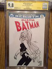 FRANK MILLER ORIGINAL Sketch Art CGC 9.8 All Star Batman Signed Batgirl Knight Comic Art