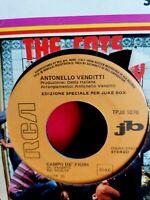 ANTONELLO VENDITTI Campo de' fiori PROMO JB 45rpm 7' + PS 1974 MINT-