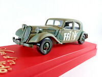 """HTF Solido Military Vehicle 1939 Citroen 15 Six 1:43 scale die cast 4 1/4"""" long"""
