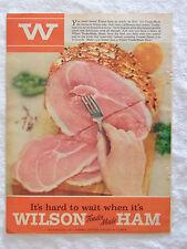 1955 Magazine Advertisement Page For Wilson Tender Made Ham Pork Vintage Ad