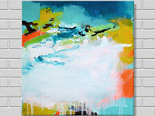 MODERN ABSTRACT HAND PAINTED OIL PAINTING LARGE CANVAS 80 x 80 FRAMED WALL ART