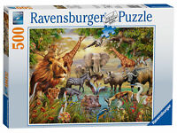 14809 Ravensburger Jigsaw Puzzle Animals at the Waterhole 500 Pieces Age 10+
