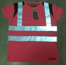Ladies cycling equestrian t shirt top Hi vis Pink Horse riding Rockfish Size 16