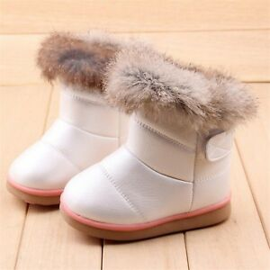COZULMA Winter Plush Baby Girls Snow Boots Warm Shoes Flat With Baby Best New