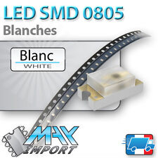LED SMD / CMS 0805 Blanches ( White - Blanc ) - Lots multiples, prix dégressifs