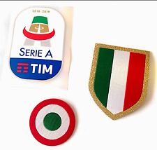 2018-19 JUVENTUS Serie A & Scudetto & Coppa Italia OFFICIAL Badge Patch Set