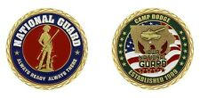 "ARMY CAMP DODGE IOWA NATIONAL GUARD ESTABLISHED 1909 1.75"" CHALLENGE COIN"
