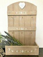Shabby Chic Key Holder Cabinet Wall Unit Shelf Cupboard Letter Rack Storage