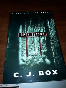 C.J. Box OPEN SEASON - First Edition SIGNED Autographed VG+ Condition