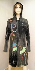 Rising International Long Embroidered Hoodie Coat Jacket NWT XXL 2X Cotton New