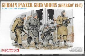 Dragon WWII German Panzer Grenadiers, KHARKOV 1943, Figures in 1/35 6059 ST
