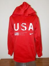 Mens Nike Dri-Fit Therma-FIT Staff Pullover Hoodie Team U.S.A. Red Large NWT