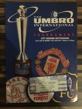 Le UMBRO Tournament 1996 PROGRAMME et BILLET Man Utd Chelsea Forest Ajax