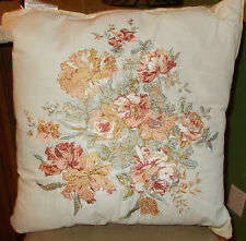 Mary Jane's Home , VINTAGE LACE/MORNING ROSE Throw Pillow NWT, 1st Quality