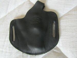 Black Barsony Leather Holster