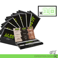 10 CARNETS - Jass Black Edition Small - Feuilles à rouler