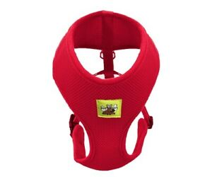 Dog Harness No Pull and Adjustable Breathable Dog Collar Red for all sized Dogs