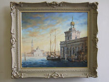 """""""Venice-Dogana, San Giorgio"""" o/ c, listed artist Irek T. Szelag"""