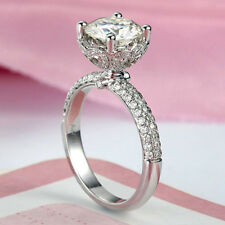 1.50ct White Round Cut Diamond Engagement Wedding Ring Solid 925 Sterling Silver