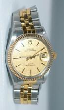 Rolex Tudor Prince OysterDate 34mm Gold bezel Linen Dial ref. 75203N Watch Ex++!