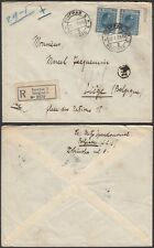Serbia 1928 - Registered cover to Liege - Belgium.............(EB) MV-3276