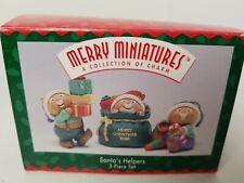 Hallmark Merry Miniatures-Santa'S Helpers 3-Piece Set In Box