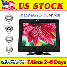 "Portable S801H HD 8"" TFT LCD Monitor VGA BNC Video Audio HDMI Input For PC CCTV"