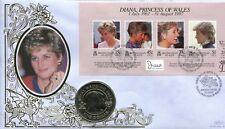 Cubierta de moneda 1998, Diana Princesa de Gales, contiene Bermuda moneda de $1