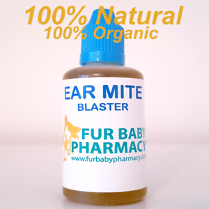 LARGE 30ML -100% NATURAL PET EAR MITES BLASTER FOR DOGS, CATS,  RABBITS, HORSES