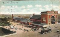 Postcard Union Station Omaha Nebraska