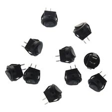 10 pz x AC 3A / 250V 6A / 125V ON-OFF I / O SPST 2 Pin snap a Round Boat In H4L3