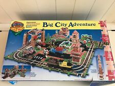 MELISSA & DOUG BIG CITY ADVENTURE EXPANDABLE WOODEN CONSTRUCTION SYSTEM - NEW