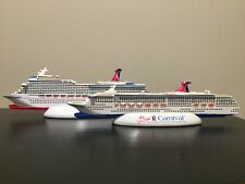 Two Resin Carnival Cruise Ships- Legend and Conquest