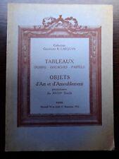 Catalogue de vente TABLEAU ANCIEN MOBILIER XVIIIe COLLECTION GEORGES B. LASQUIN