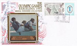 (03759) Spain Benham Cover Olympics Sailing Smith Cruickshank Barcelona 1992