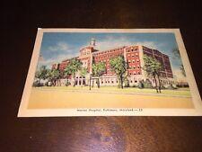 Vintage, Marine Hospital, Baltimore Maryland, postcard