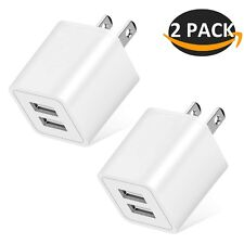 Wall Charger, 2.4A 12W Dual Port Portable Universal USB Wall Charger for Appl...